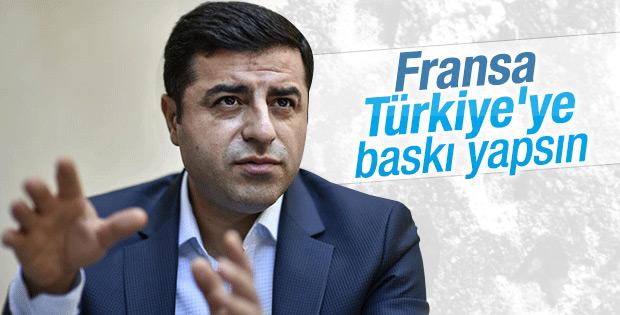 Selahattin Demirtaş Türkiye'yi Fransa'ya şikayet etti
