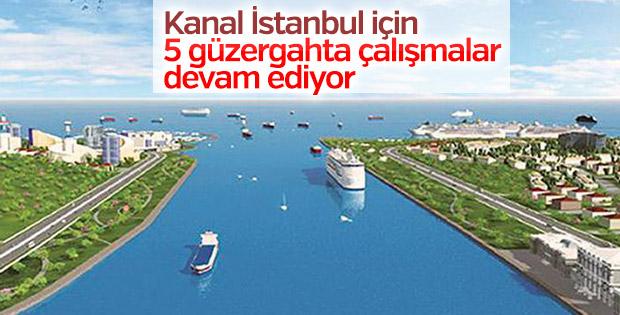 Kanal İstanbul için 5 güzergahta çalışmalar devam ediyor