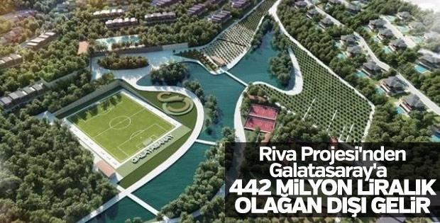 Riva Projesi'nden Galatasaray'a 442 milyon liralık gelir
