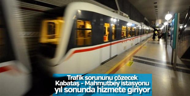 Kabataş - Mahmutbey istasyonu yıl sonunda hizmete girecek