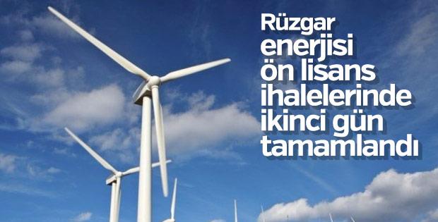 Rüzgar enerjisi ön lisans ihalelerinde ikinci gün tamamlandı