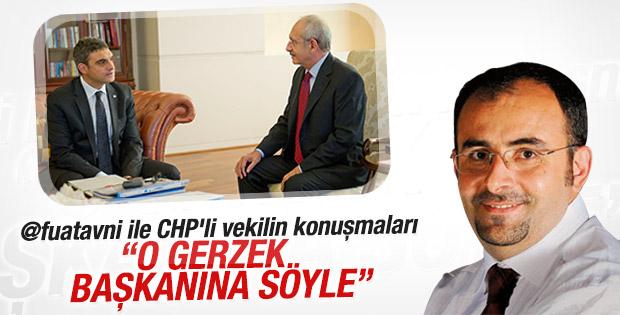 Fuat Avni ve CHP'li Umut Oran'ın konuşmaları ortaya çıktı