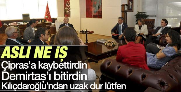 Aslı Aydıntaşbaş Kılıçdaroğlu Bildt görüşmesine katıldı