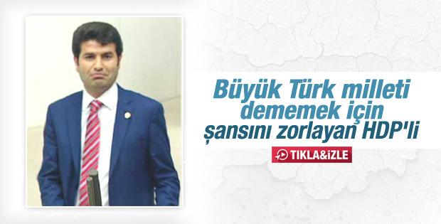 Türkiye milleti diyen HDP'li vekil yeminini tekrarladı