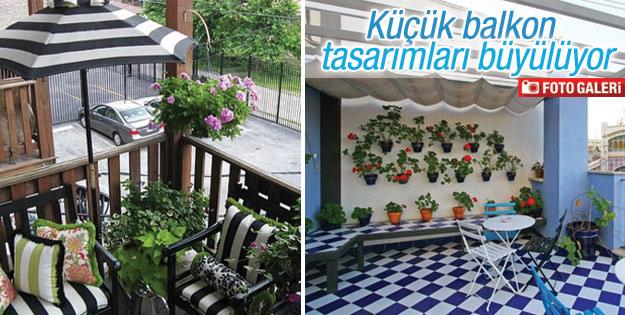 Küçük balkonlar dekorasyonuyla büyülüyor