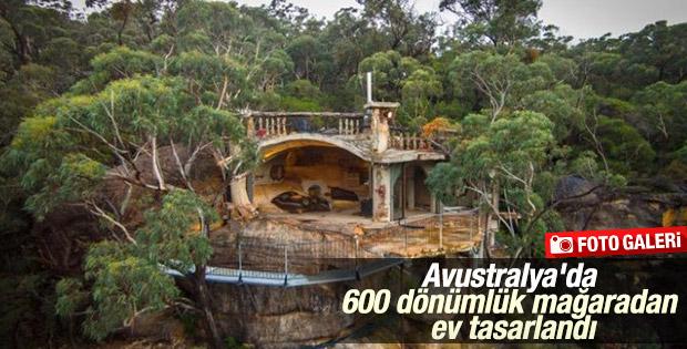 Avustralya'da 600 dönümlük mağaradan ev tasarlandı