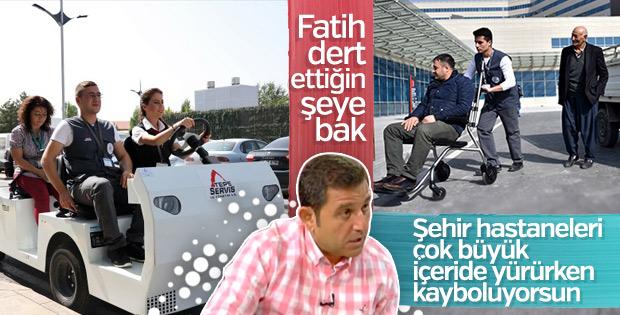 Fatih Portakal şehir hastanelerinden memnun değil