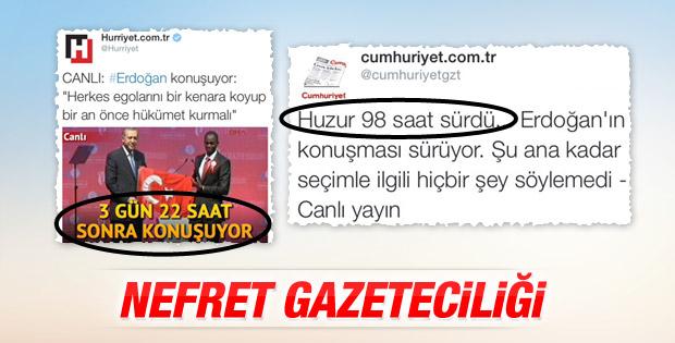 Cumhuriyet ve Hürriyet'in nefret gazeteciliği