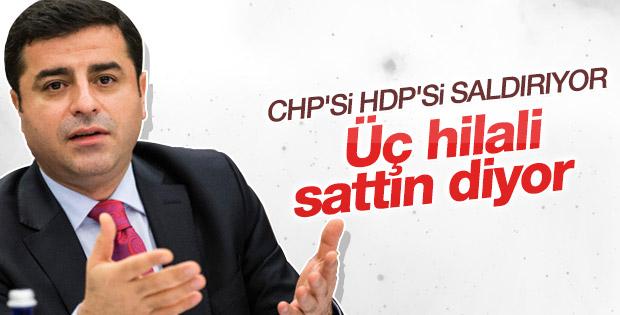 Selahattin Demirtaş'tan MHP'ye üç hilal göndermesi