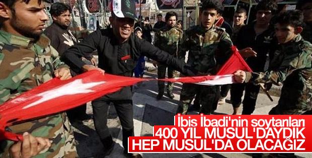 Irak'ta Türk bayrağı yırtıldı