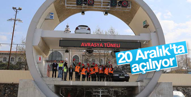 Avrasya Tüneli'nde çalışmalar sürüyor