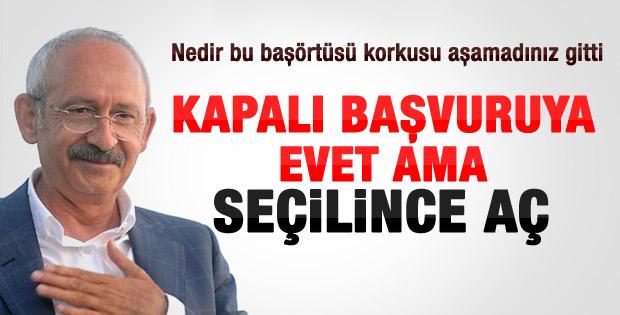Kılıçdaroğlu: Başörtülü vekile evet ama kurallar var