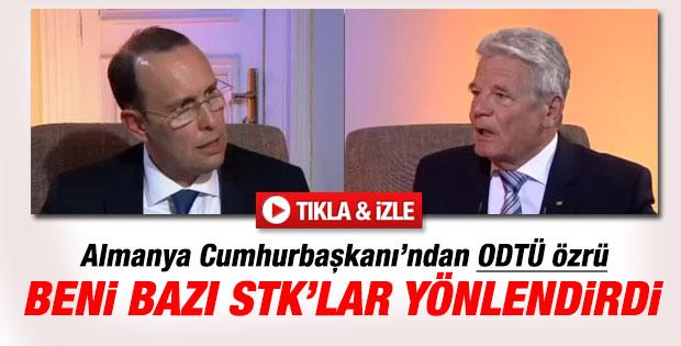 Almanya Cumhurbaşkanı Gauck: Beni STK'lar yönlendirdi
