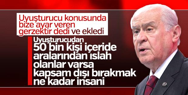 MHP Genel Başkanı'ndan uyuşturucu açıklaması