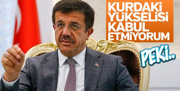 Bakan Zeybekci: Kurdaki yükselişi kabul etmiyorum