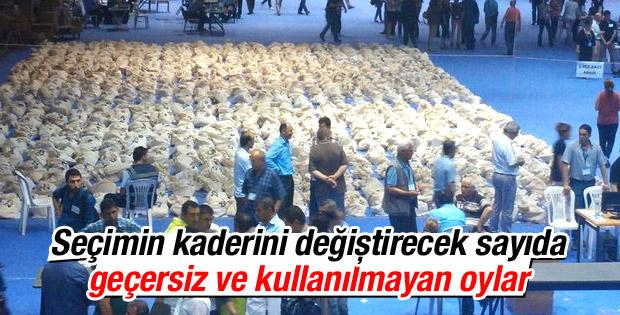 Türkiye genelinde geçersiz ve kullanılmayan oylar
