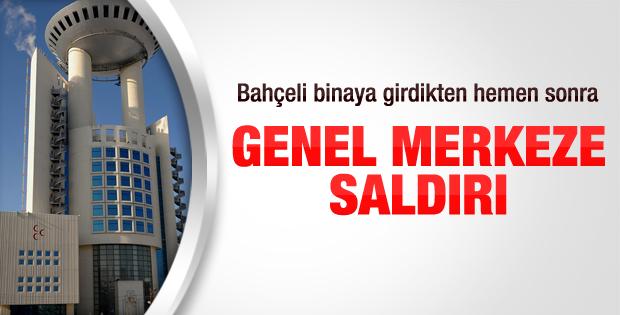 MHP Genel Merkezi'ne arabalı saldırı yapıldı