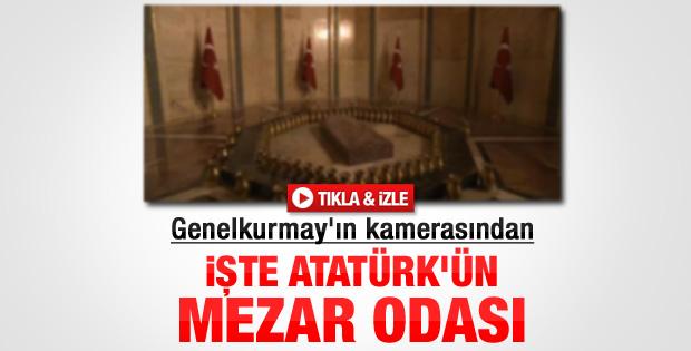 Genelkurmay Atatürk'ün mezarının görüntülerini paylaştı