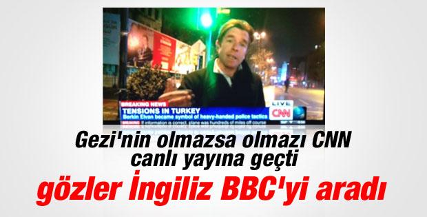 Gezi olaylarının takipçisi CNN yine canlı yayında İZLE