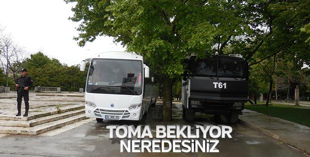 Gezi Parkı çevresinde güvenlik önlemleri
