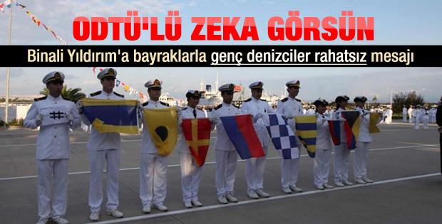 İTÜ'lü denizcilerden Bakan'a şifreli protesto