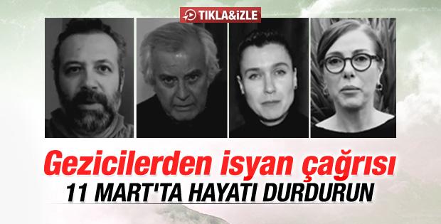 Gezicilerden 11 Mart'ta hayatı durdurun çağrısı