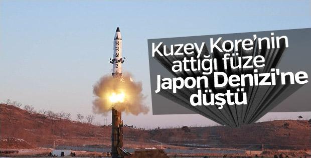 Kuzey Kore balistik füze denedi