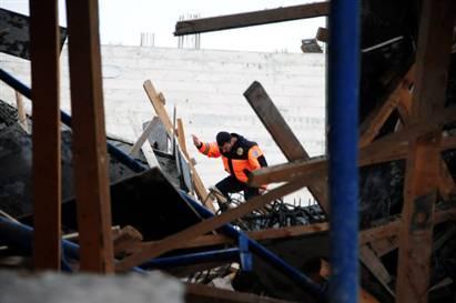 Adana'da SGK hizmet binası inşaatında göçük - izle