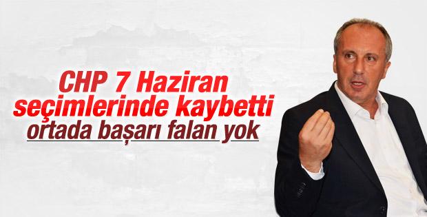 Muharrem İnce: CHP 7 Haziran seçimlerinde başarısız oldu
