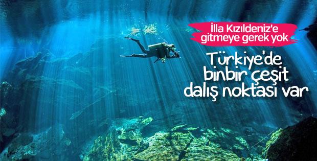 Türkiye'nin en iyi dalış noktaları