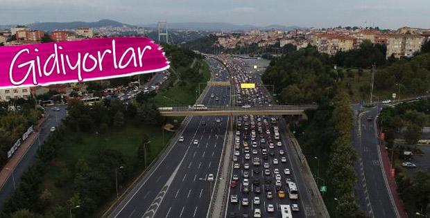 Bayram tatili öncesinde trafik yoğunluğu