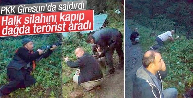 Giresun'da halk silahını alıp terörist aradı