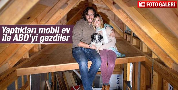 Yaptıkları mobil ev ile ABD'yi gezdiler