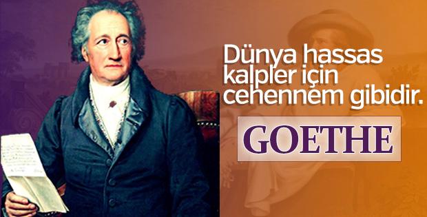 Eserleri ve örnek alınası yaşamı ile Goethe