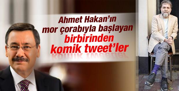 Melih Gökçek ile Ahmet Hakan'ın arasında çorap atışması