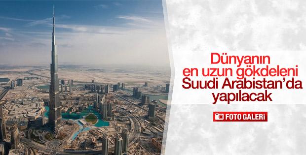 Suudi Arabistan'a 1 kilometrelik gökdelen yapılacak
