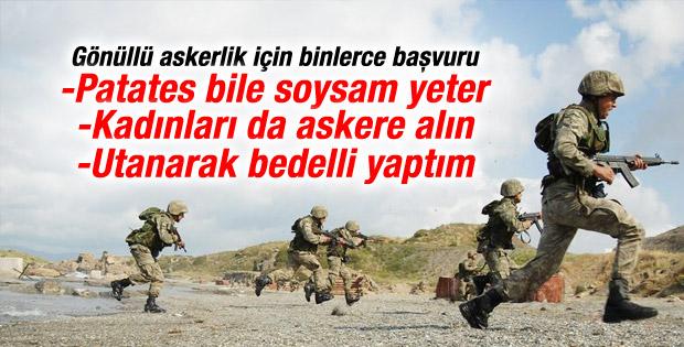 Gönüllü askerlik için TSK'ya binlerce başvuru