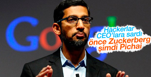 Google CEO'su Pichai de hacklendi