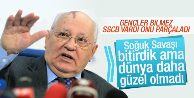 Gorbaçov'a göre Soğuk Savaş'ın bitişi bekleneni karşılamadı