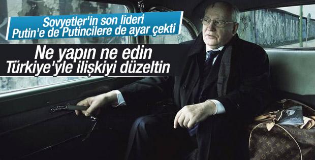 Gorbaçov'dan Rusya'ya Türkiye'yle uzlaşı çağrısı