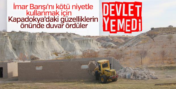 Kapadokya'da kaçak yapıların yıkımına başlandı
