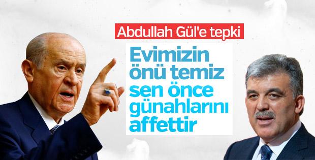 Devlet Bahçeli grup toplantısında Abdullah Gül'e yüklendi