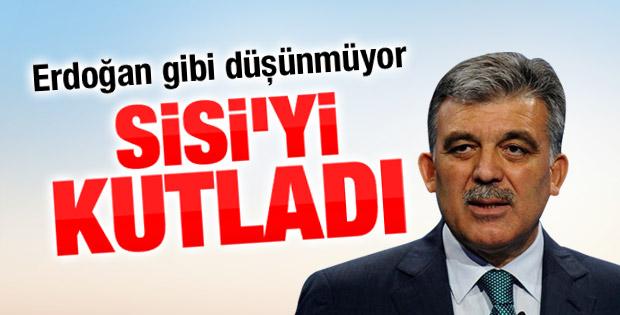 Abdullah Gül'den Sisi'ye kutlama mesajı