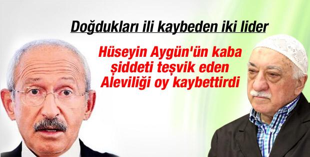 Gülen ve Kılıçdaroğlu memleketlerinde kaybettiler