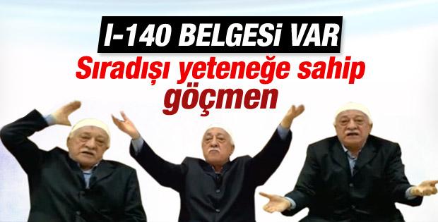 Fethullah Gülen ABD'de I-140 vizesine sahip