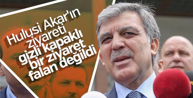 Abdullah Gül: Hulusi Akar'ın ziyareti gizli değildi