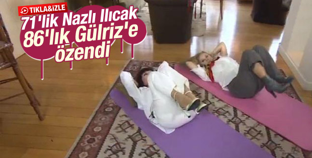 Nazlı Ilıcak ile Gülriz Sururi pilates yaptı