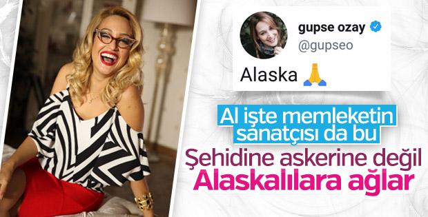 Afrin'e sessiz kalan Gupse Özay Alaska'ya ağlıyor
