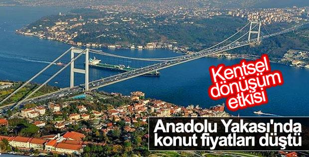 Anadolu Yakası'nda konut fiyatları düştü