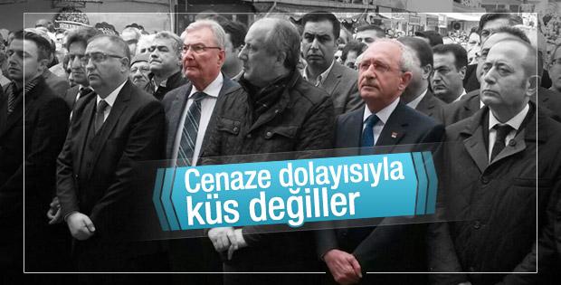 Deniz Baykal ile Kemal Kılıçdaroğlu cenazeye katıldı